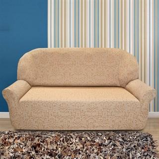 БОГЕМИЯ БЕЖ Чехол на 3-х местный диван от 170 до 230 см