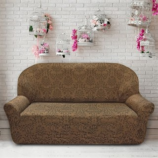 БОГЕМИЯ МАРОН Чехол на 3-х местный диван от 170 до 230 см