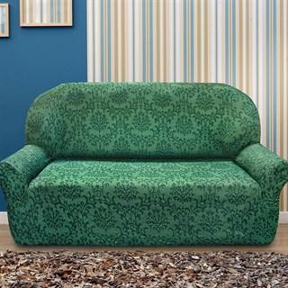 БОГЕМИЯ ВЕРДЕ Чехол на 3-х местный диван от 170 до 230 см