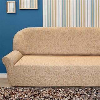 БОГЕМИЯ БЕЖ Чехол на 4-х местный диван от 230 до 270 см