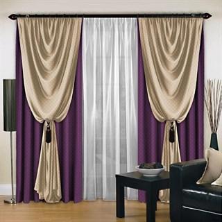 Комплект штор Августина фиолетовый