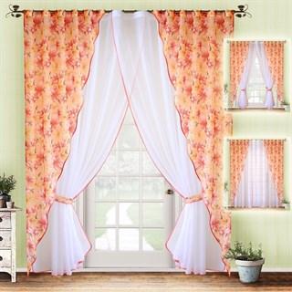 Комплект штор Лилия Orange с тюлем