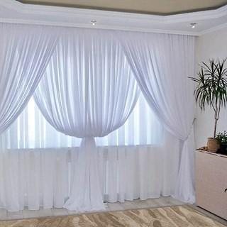 Комплект штор Изабелла белый