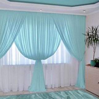 Комплект штор Изабелла голубой
