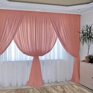 Комплект штор Изабелла персиковый