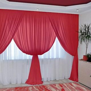 Комплект штор Изабелла красный