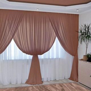 Комплект штор Изабелла шоколадный