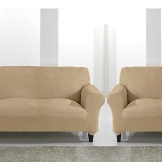 ТЕЙДЕ БЕЖ Комплект чехлов на диван и 2 кресла
