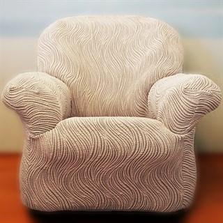 ВОЛНЫ ГРИС Чехол на кресло от 70 до 110 см