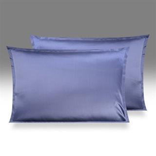 Шелковая наволочка OnSilk Shine 50х70 дымчато-синяя