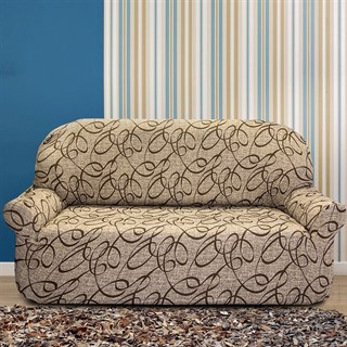 ПЕРСИЯ БЕЖ Чехол на 2-х местный диван от 130 до 170 см