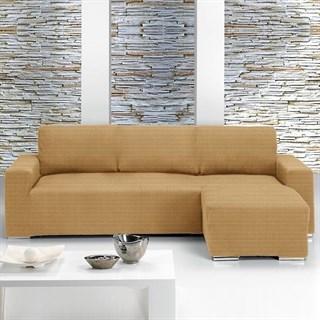 ИБИЦА БЕЖ Чехол на угловой диван с выступом справа