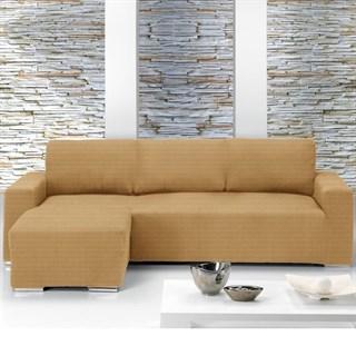 ИБИЦА БЕЖ Чехол на угловой диван с выступом слева