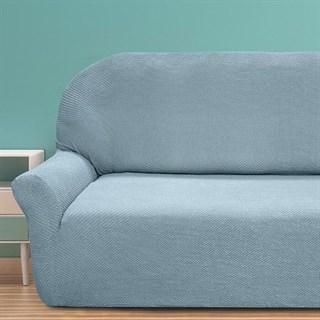 АЛЯСКА АЗУЛ КЛАРО Чехол на 3-х местный диван от 170 до 230 см