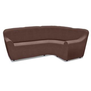ГАЛАНТ МАРОН Универсальный чехол на угловой диван от 380 до 500 см