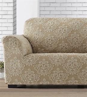 ЛЮКС-1 БЕЖ Чехол на кресло от 70 до 110 см