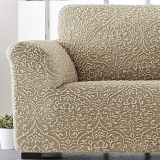 ЛЮКС-2 БЕЖ Чехол на кресло от 70 до 110 см