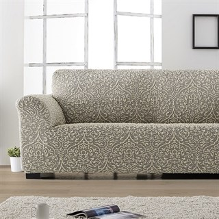 ЛЮКС-2 ГРИС Чехол на 2-х местный диван от 120 до 170 см