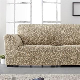 ЛЮКС-2 БЕЖ Чехол на 2-х местный диван от 120 до 170 см