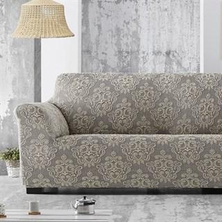 ЛЮКС-1 ГРИС Чехол на 2-х местный диван от 120 до 170 см