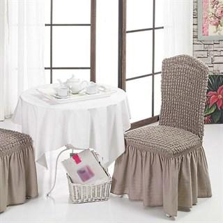 COFFEE Чехлы на стулья со спинкой (2 шт.) капуччино