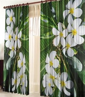 Фотошторы 3D Тропические цветы