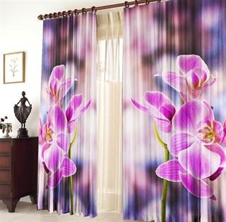 Фотошторы 3D Орхидея