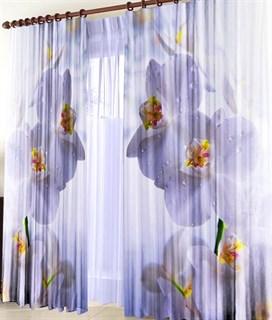 Фотошторы 3D Белая орхидея
