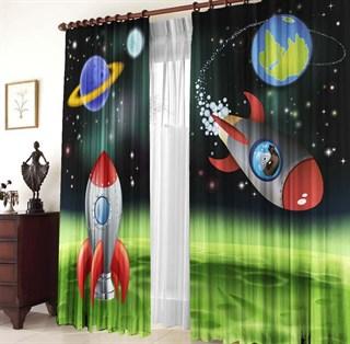 Фотошторы детские Космос