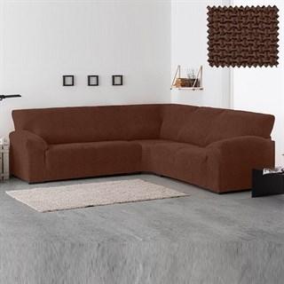 АЛЯСКА МАРОН Чехол на классический угловой диван от 270 до 480 см универсальный
