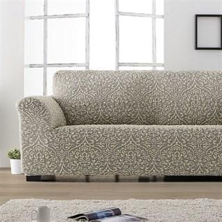 ЛЮКС-2 ГРИС Чехол на классический угловой диван от 280 до 480 см универсальный