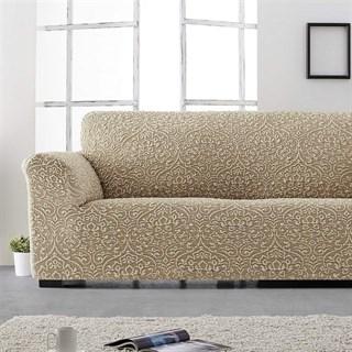 ЛЮКС-2 БЕЖ Чехол на классический угловой диван от 280 до 480 см универсальный