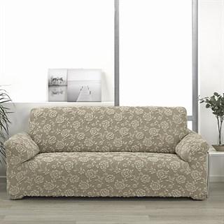 СЕВИЛЬЯ БЕЖ Чехол на 4-х местный диван от 230 до 270 см