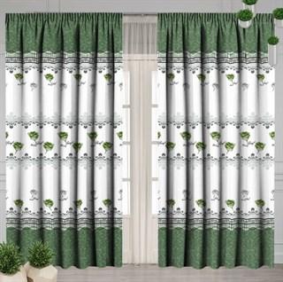 Готовые шторы Ля Флер зеленые