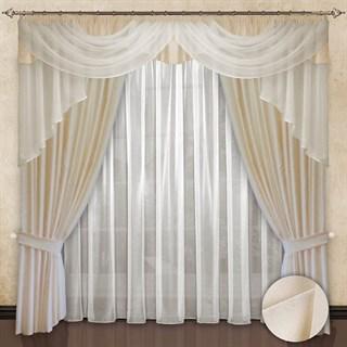 Готовые шторы с вуалью Элеонора Shampagne