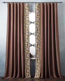 Комплект штор Pasionaria Валери коричневый