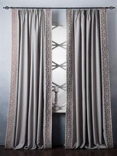 Комплект штор Pasionaria Дюпон бежево-серый