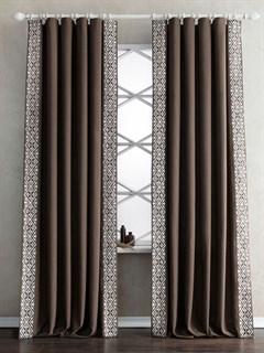 Комплект штор Pasionaria Дюпон коричневый