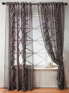 Комплект штор Pasionaria Иви серый (шир. 200)