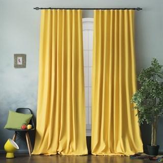 Комплект штор Pasionaria Билли желтый с подхватами