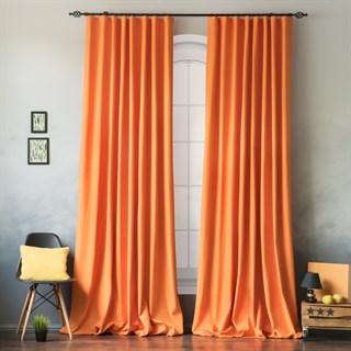 Комплект штор Pasionaria Билли оранжевый с подхватами