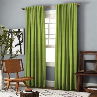 Комплект штор Pasionaria Ибица зеленый (шир. 200) с подхватами