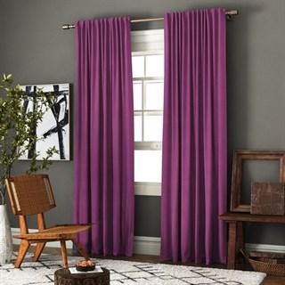 Комплект штор Pasionaria Ибица фиолетовый (шир. 140) с подхватами