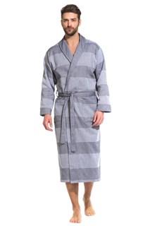 Pur Organique Халат мужской XL (50-52) серый