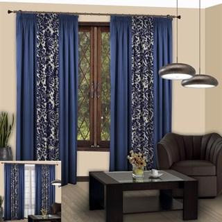 Готовые шторы Мелани синие