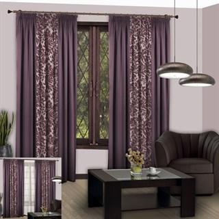 Готовые шторы Мелани фиолетовые