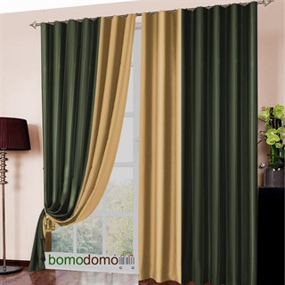 Готовые шторы Блэкаут Амалия темно-зеленые