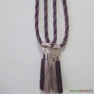 Кисти для штор бежево-фиолетовые 14 см