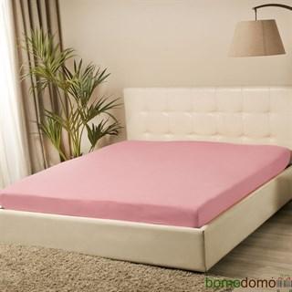 Простыня трикотажная Violett на резинке 90х200 розовая