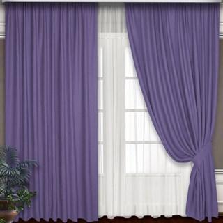 Готовые шторы Блэкаут-Софт Сирень с подхватами
